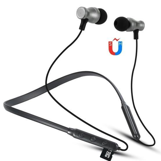 F106 Bluetooth 4.2 Hanging Neck Design Bluetooth Headset (Black)