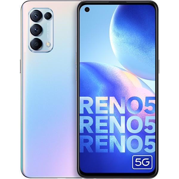 OPPO Reno 5 5G Dual Sim 256GB Galactic Silver (12GB RAM) - Global Version