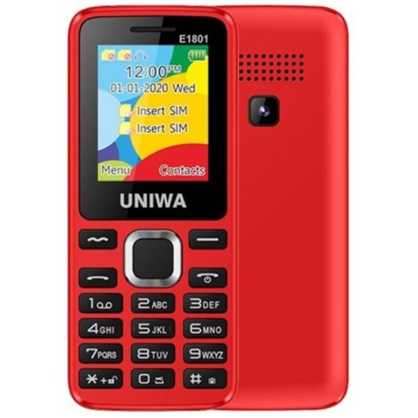 UNIWA E1801 2G Dual Sim Mobile Phone Red