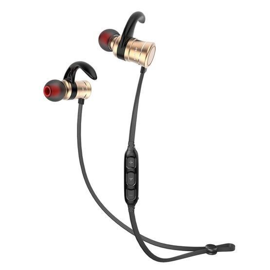 AWEI AK5 Sports Waterproof Wireless Bluetooth In-ear Headphone with Mic (Gold)