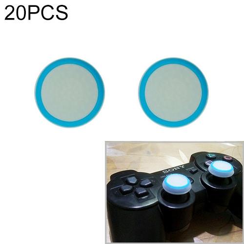 20 PCS Luminous Silicone Protective Cover for PS4 / PS3 / PS2 / XBOX360 / XBOXONE / WIIU Gamepad Joystick (Blue)