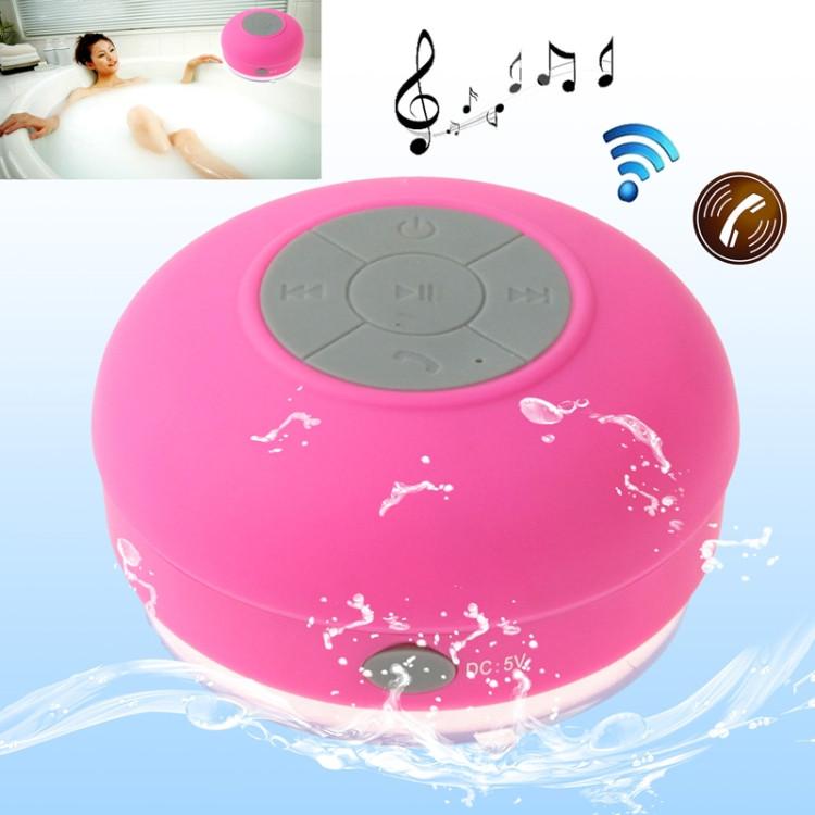 Mini Waterproof Bluetooth Speaker (Magenta)