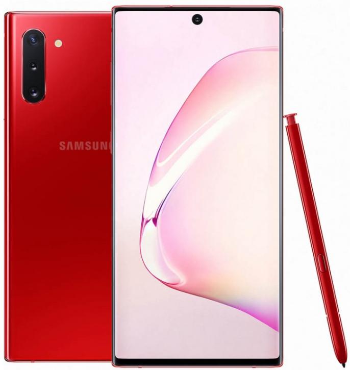 Samsung Galaxy Note 10 Dual Sim N970FD 256GB Red (8GB RAM)