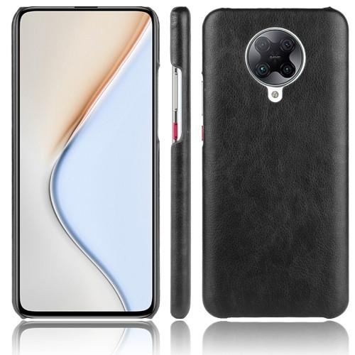 Shockproof Litchi Texture PC + PU Case for Xiaomi Poco F2 Pro (Black)