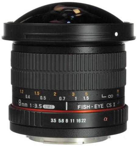 Samyang 8mm f/3.5 Fish-eye CS II w/hood (Fuji X)