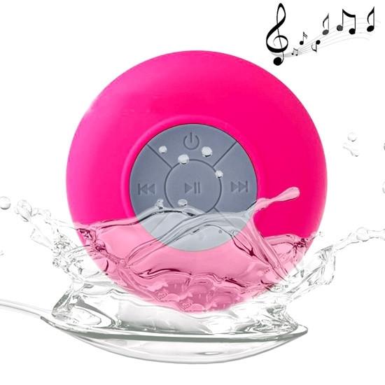 BTS-06 Mini Waterproof IPX4 Bluetooth V2.1 Speaker (Magenta)