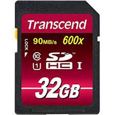 Transcend 32GB SDHC Class 10 (600X)