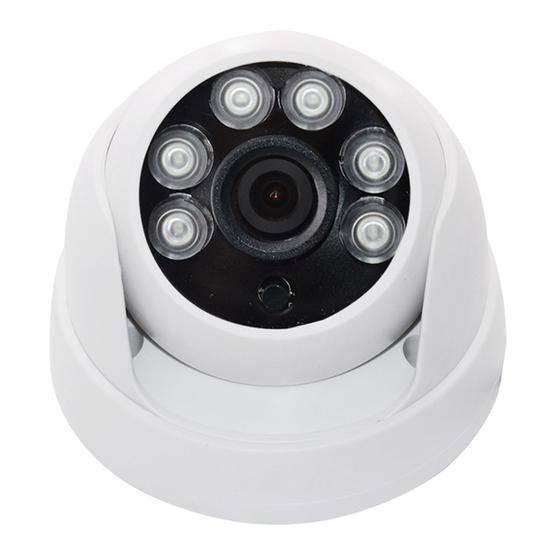 WQ-1003 HD Hemisphere Analog 6 Light Dot Array Infrared Camera(White)