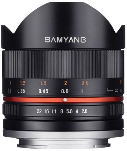 Samyang 8mm f/2.8 Fish-eye CS II Black (Canon M)