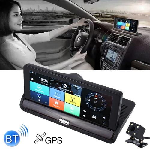 Car DVR - 7 inch Rearview Mirror Dual Camera WiFi GPS