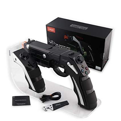 ipega PG-9057 Phantom Shox Gun Shaped Bluetooth Wireless Game Controller with Phone Clip