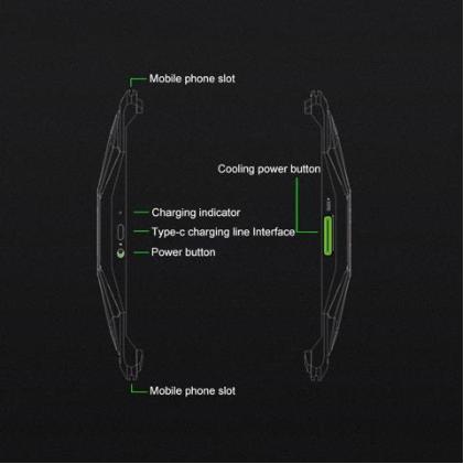 Original Xiaomi Mobile Phone Heat Dissipation Backclamp for Xiaomi Black Shark 2 (Black)