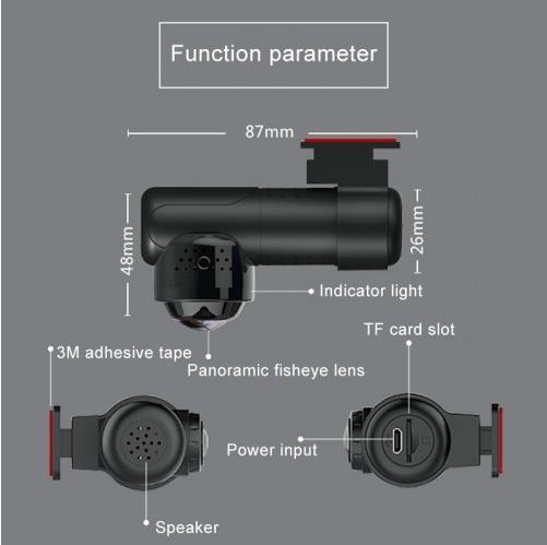 Car DVR - G9 170 Degrees Wide Angle Full HD 2160P (Black)