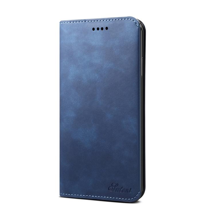 PU + TPU Horizontal Flip Leather Case for iPhone 11 (Blue)