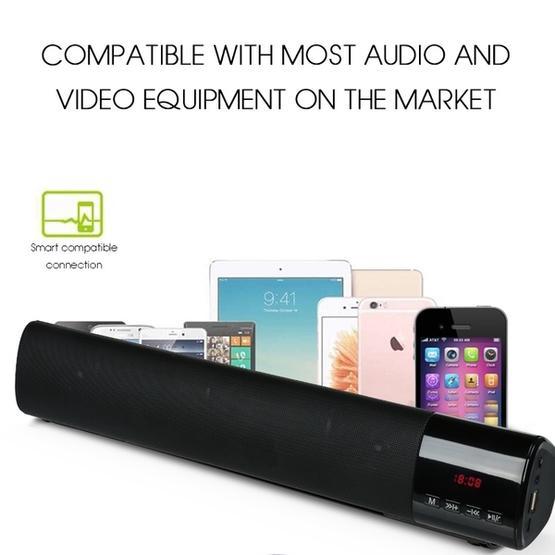 TOPROAD High Power 10W HIFI Portable Wireless Bluetooth Speaker(Silver)