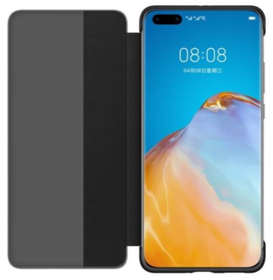 Huawei P40 Pro Smart View Flip Phone Cover Black