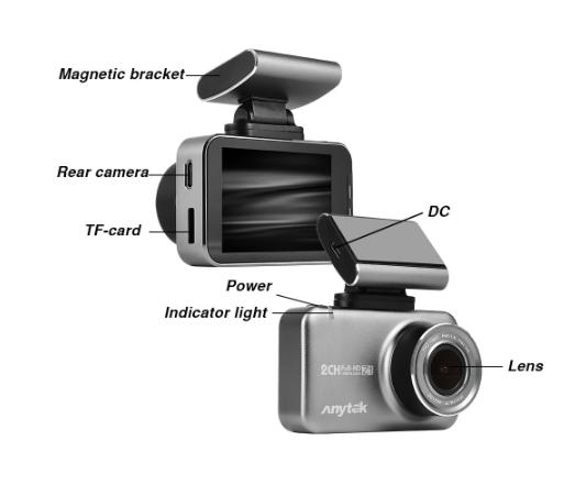 Car DVR - Anytek Z1 1080P With Rear View Camera