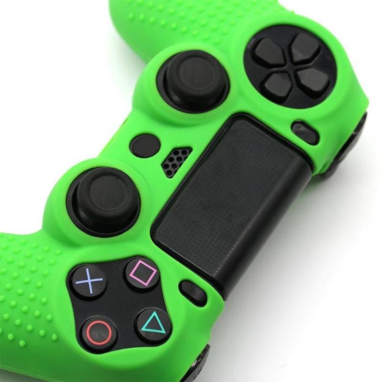Non-slip Silicone Protective Case for Sony PS4 (Black+green)