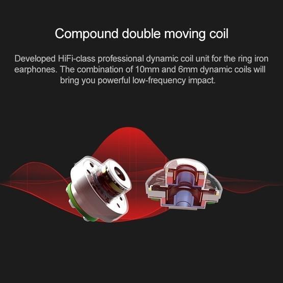 TRN V80 HiFi Bluetooth Earphone 0.75mm 2Pin Detachable Cable Earphone with Mic (Blue)