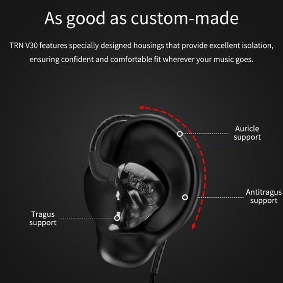 TRN X6 HiFi Bluetooth Earphone 0.75mm 2Pin Detachable Cable Earphone with Mic