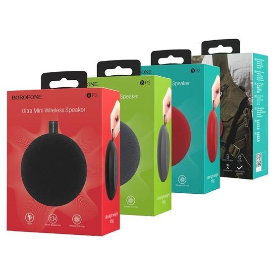 Borofone BP3 Pulsate Sports Bluetooth V5.0 Wireless Speaker Outdoor Sound Box (Grey)