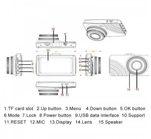 Car DVR - G68 3 inch Full HD Night Vision 1080P Multi-functional