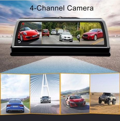 Car DVR - K600 360 Degree 10 inch 1080P Multi-functional ADAS Dual Lens